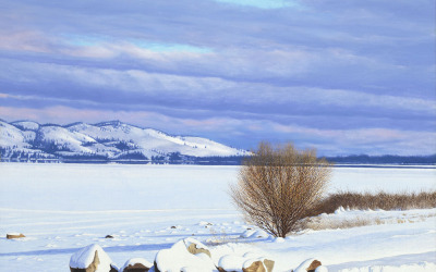 Flathead Lake Winter